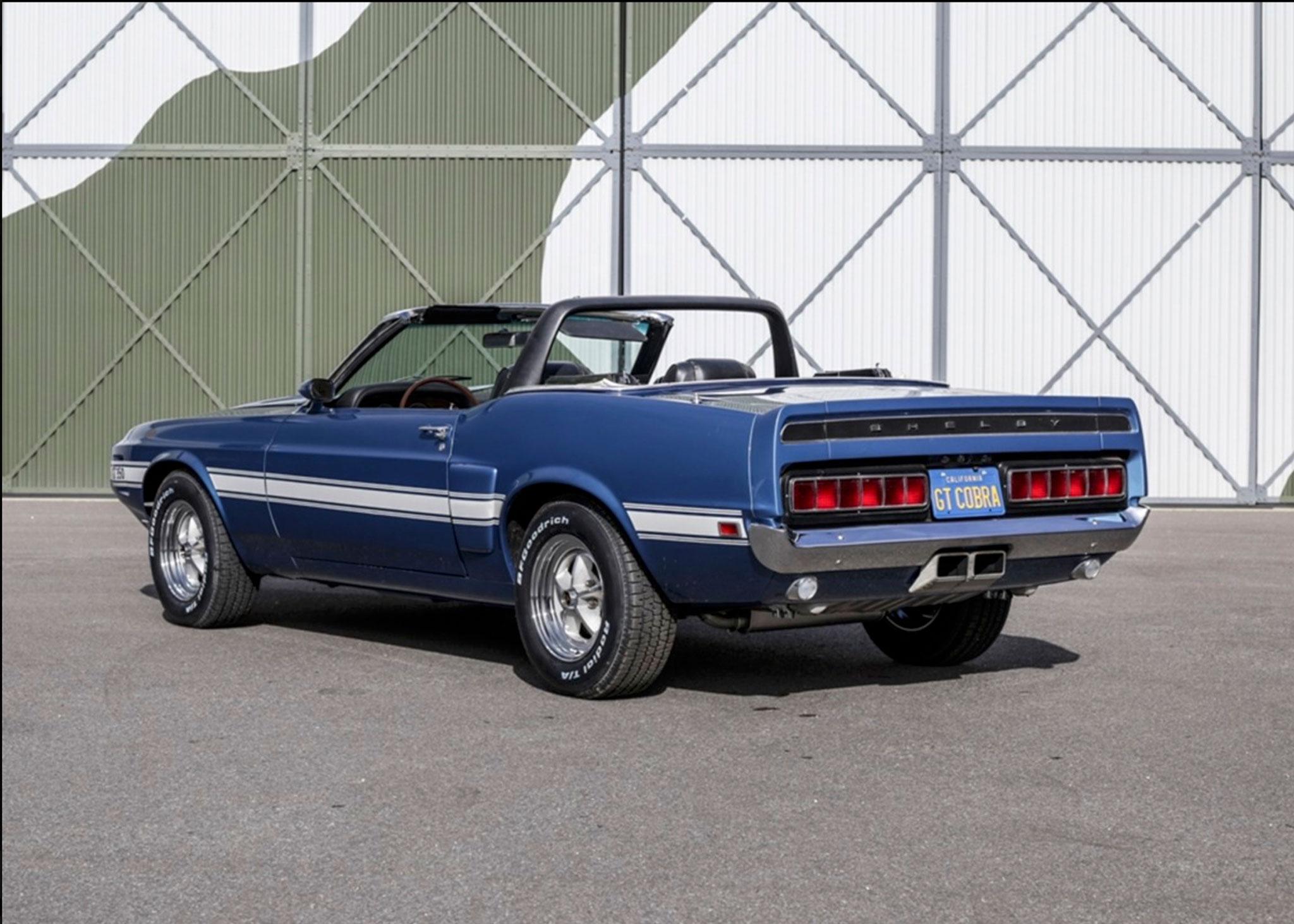 1969 Shelby GT350 Convertible la dernière série fabriquée chez Ford - Coups de Coeur Historics Auctioneers.