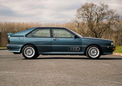 1990 Audi Quattro 20V latéral côté droit - Classic Car Auctions mars 2021.