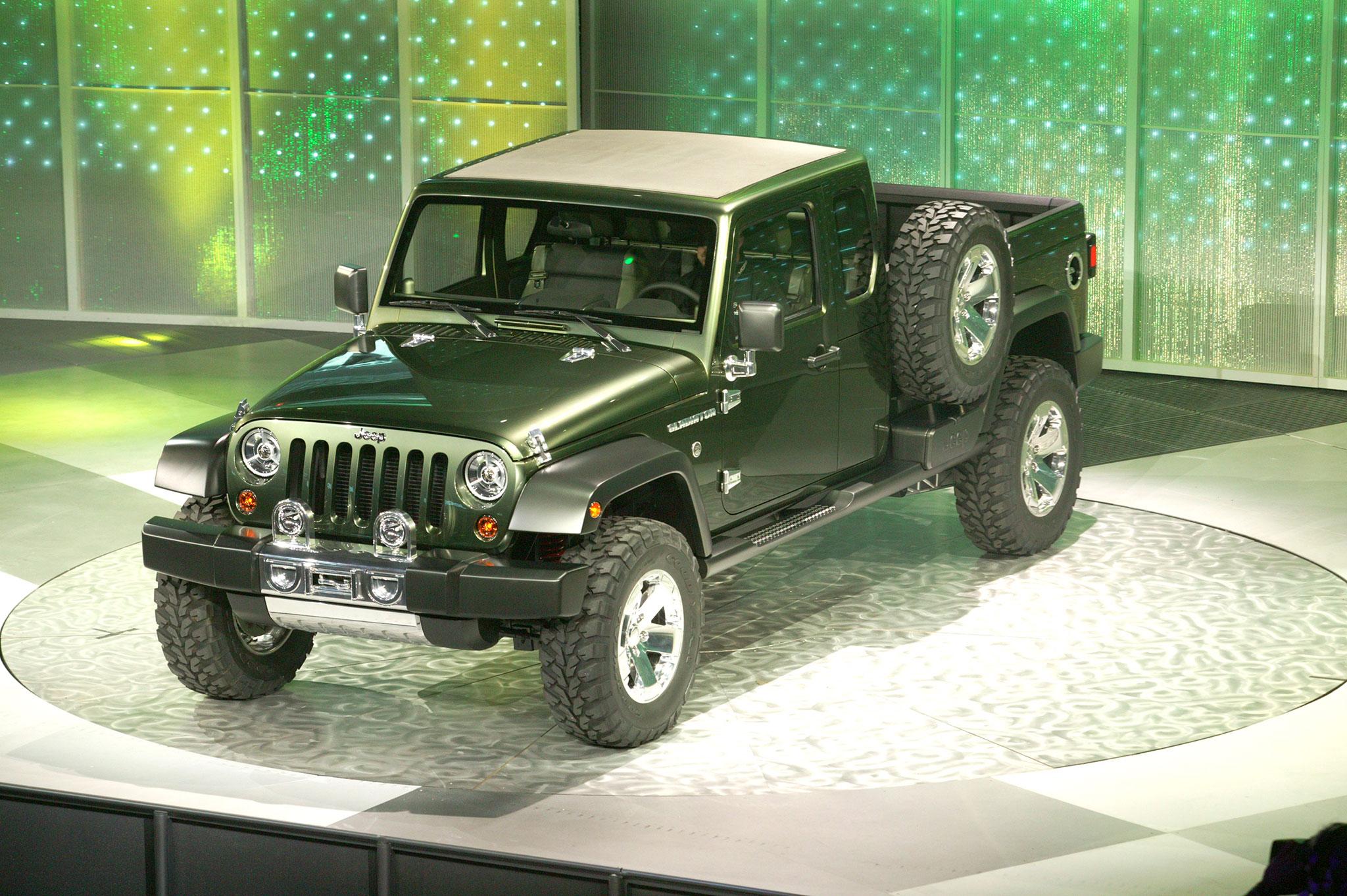 2005 Jeep Gladiator Concept présentation Salon de Detroit janvier 2005Concept Cars de Jeep®.