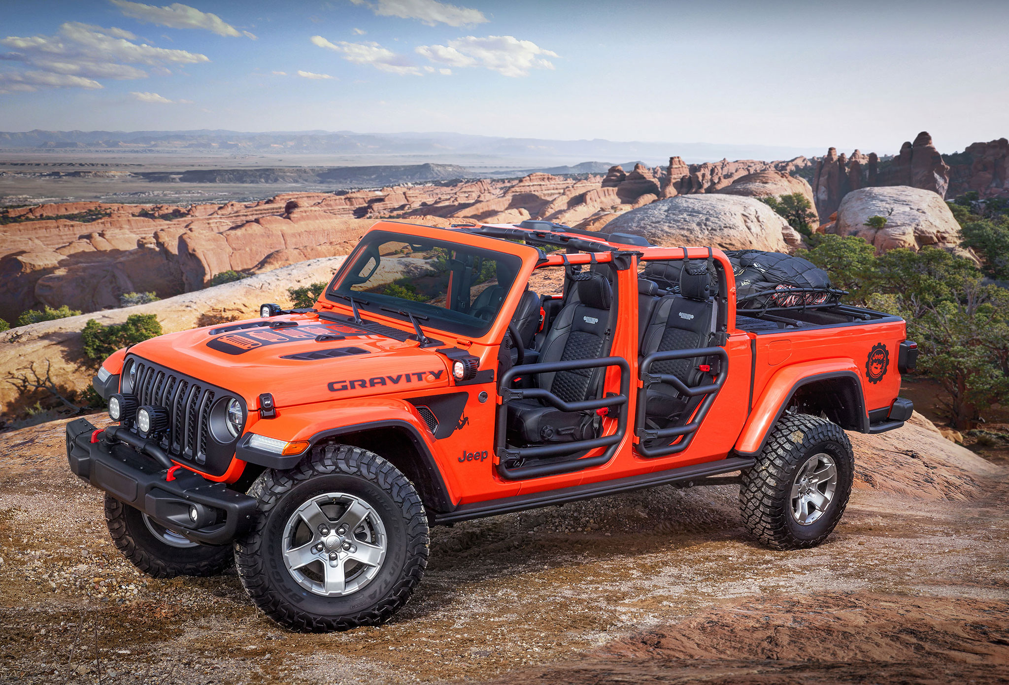 2019 Jeep Gladiator Gravity et sa peinture Punk'N Mettalic Orange - Moab Easter Jeep Safari.