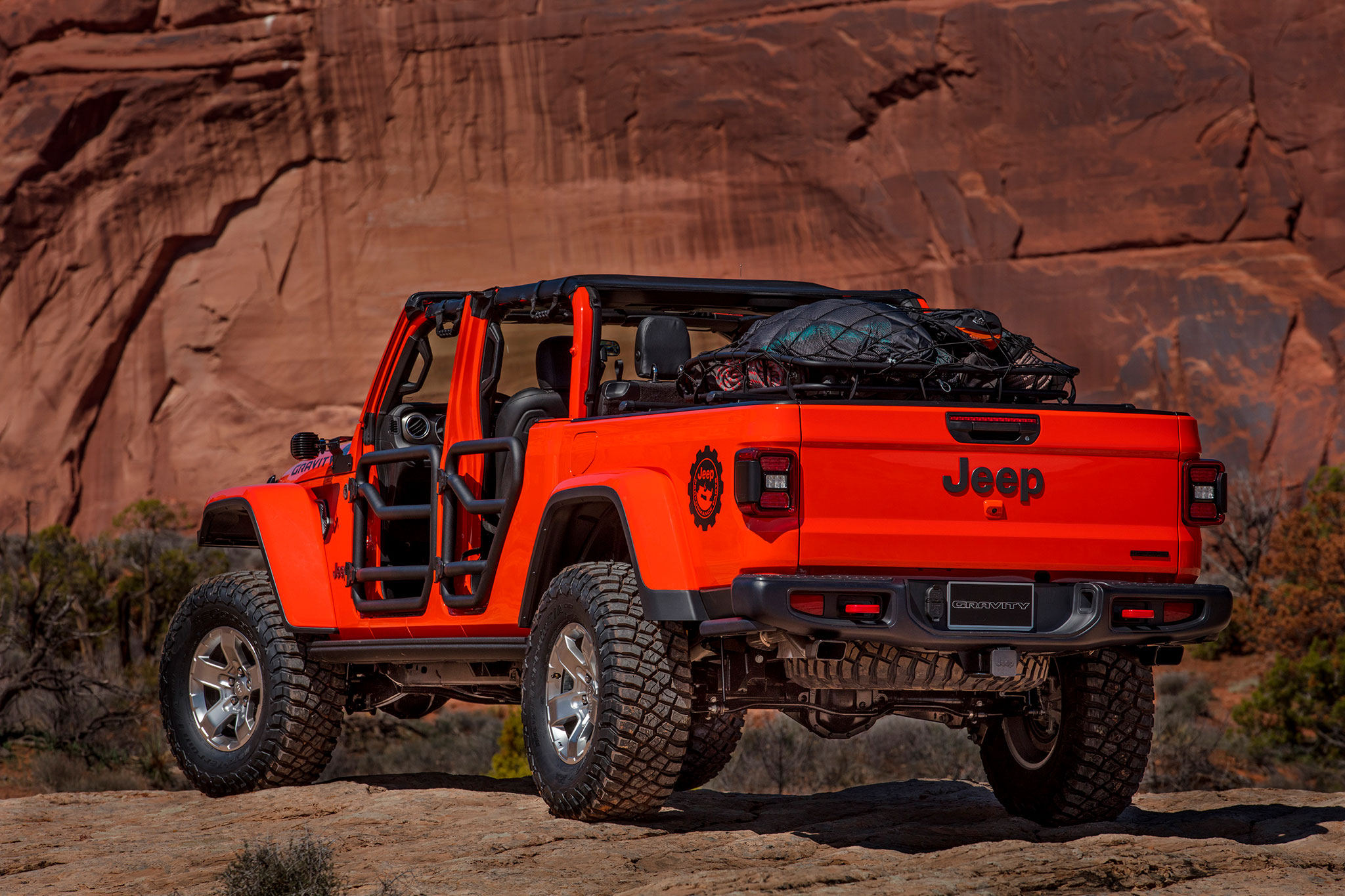 2019 Jeep Gladiator Gravity ouvert à tous les vents - Moab Easter Jeep Safari.