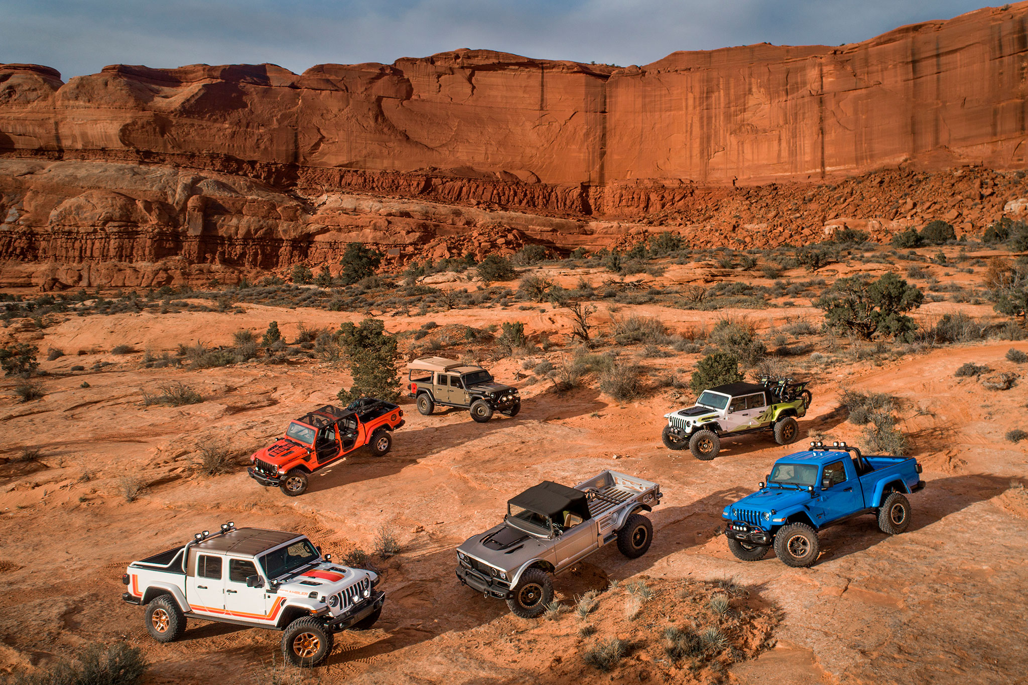 2019 Jeep JT Scrambler Jeep Five-Quarter Jeep J6 Jeep Gravity Jeep Wayout Jeep Flatbill - Moab Easter Jeep Safari.