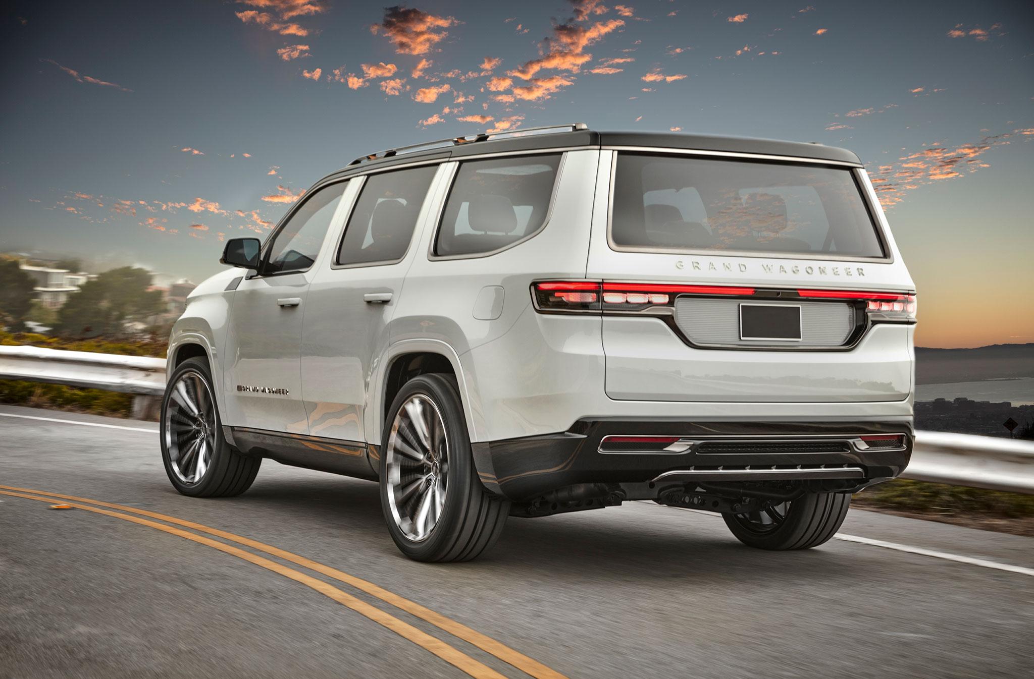 2020 Jeep Grand Wagoneer trois quarts arrière gauche - Jeep et Moab 2020.