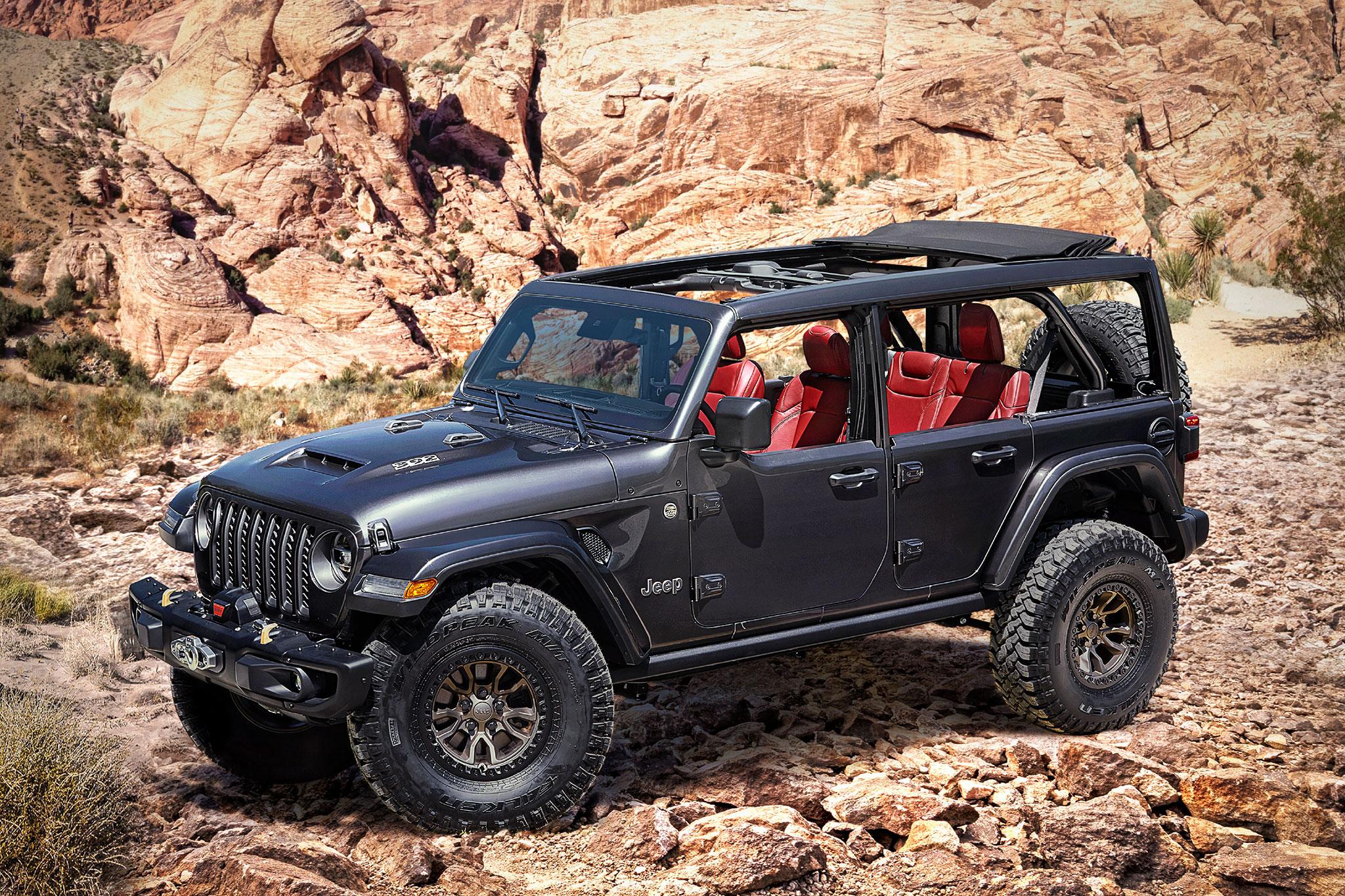 2020 Jeep Wrangler V8 6.4-Litre Rubicon 392 trois quarts avant droit - Jeep et Moab 2020.