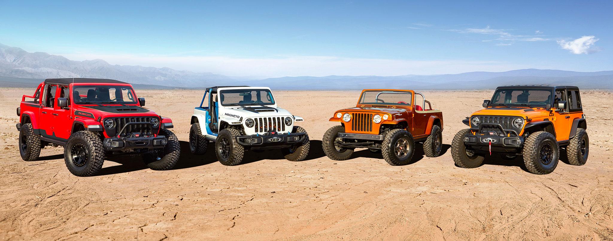 2021 Jeep Red Bare Jeep-Magneto Jeepster-Beach Jeep Orange Peelz Concepts - Concept Cars de Jeep®.