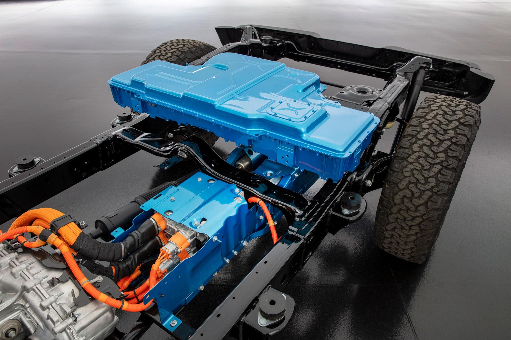2021 Jeep Wrangler 4xe bloc de batterie de 400 V.