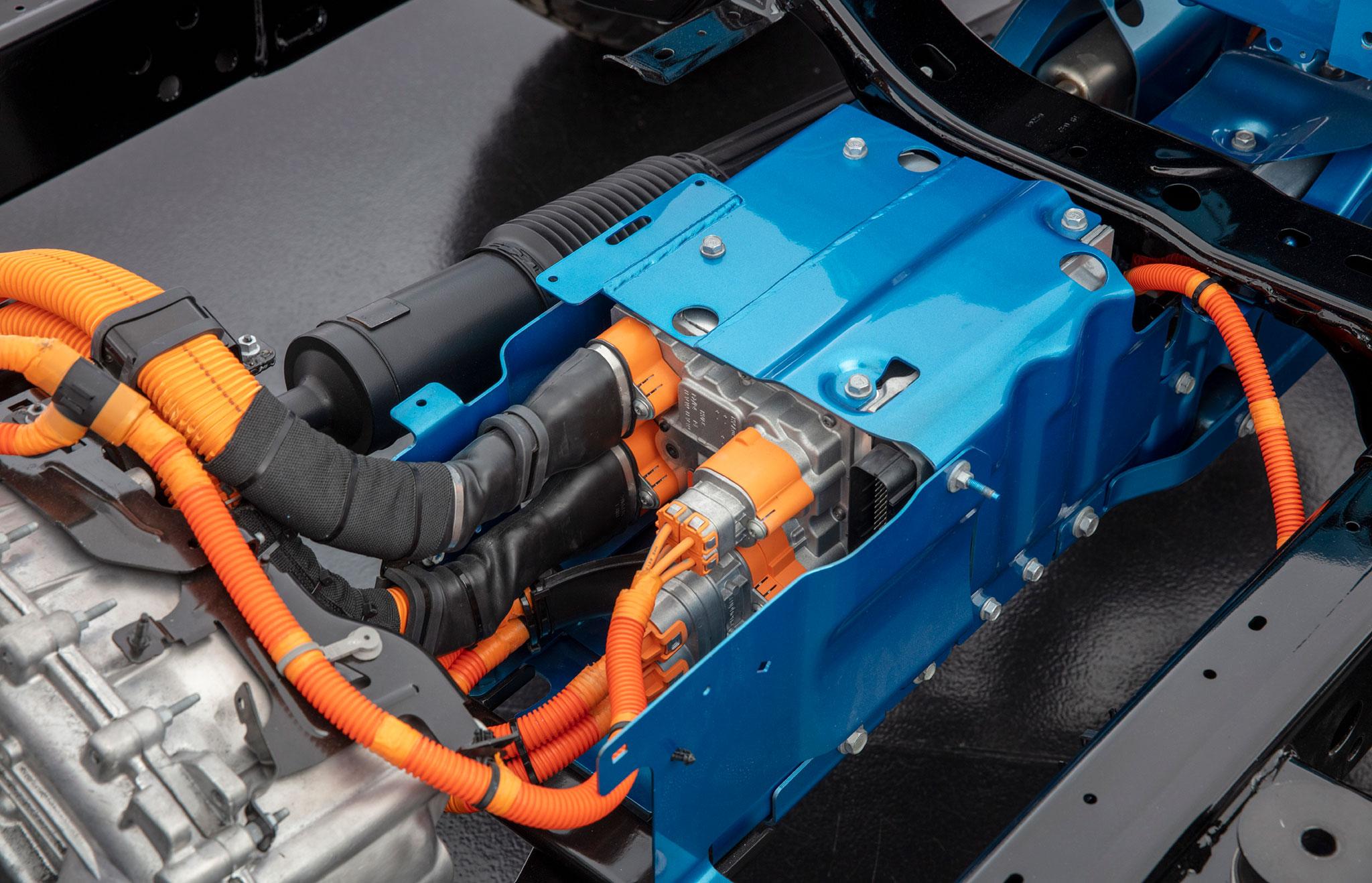 2021 Jeep Wrangler 4xe intégre deux moteurs électriques.