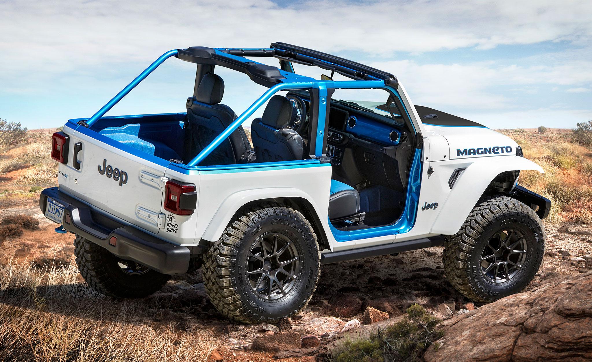 2021 Jeep Wrangler Magneto Concept trois quart arrière droit - Concept Cars de Jeep®.