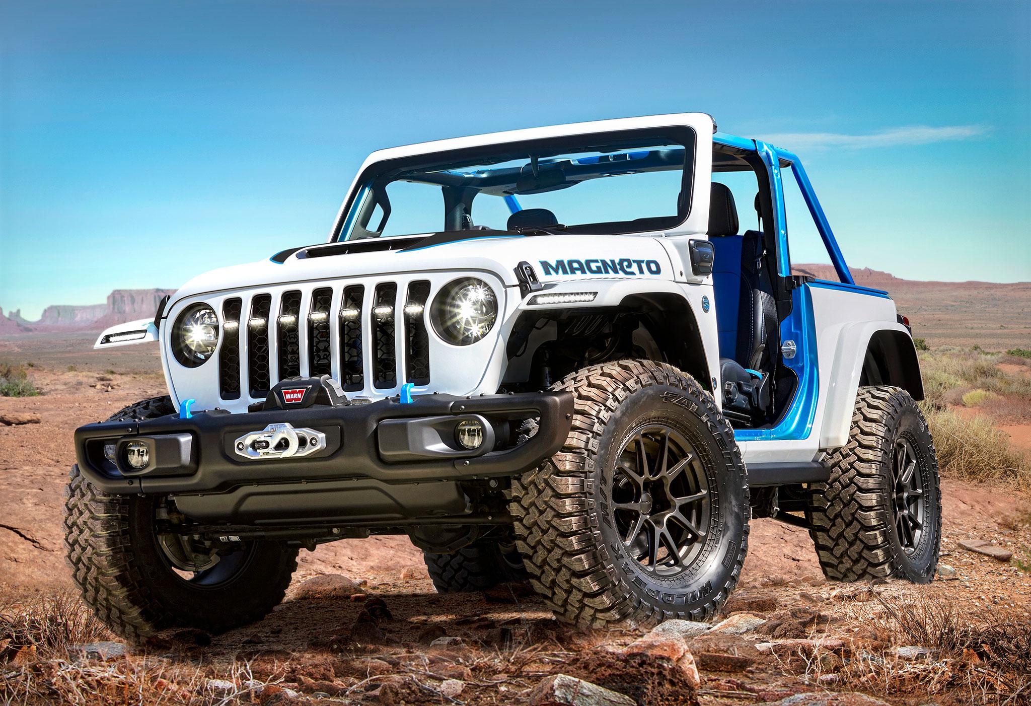 2021 Jeep Wrangler Magneto Concept trois quarta avant gauche - Concept Cars de Jeep®.