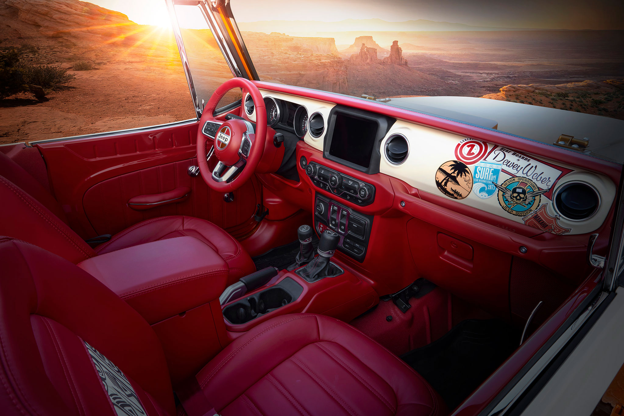 2021 Jeepster Beach Resto Mod Concept détail intérieur et tableau de bord - Concept Cars de Jeep®.