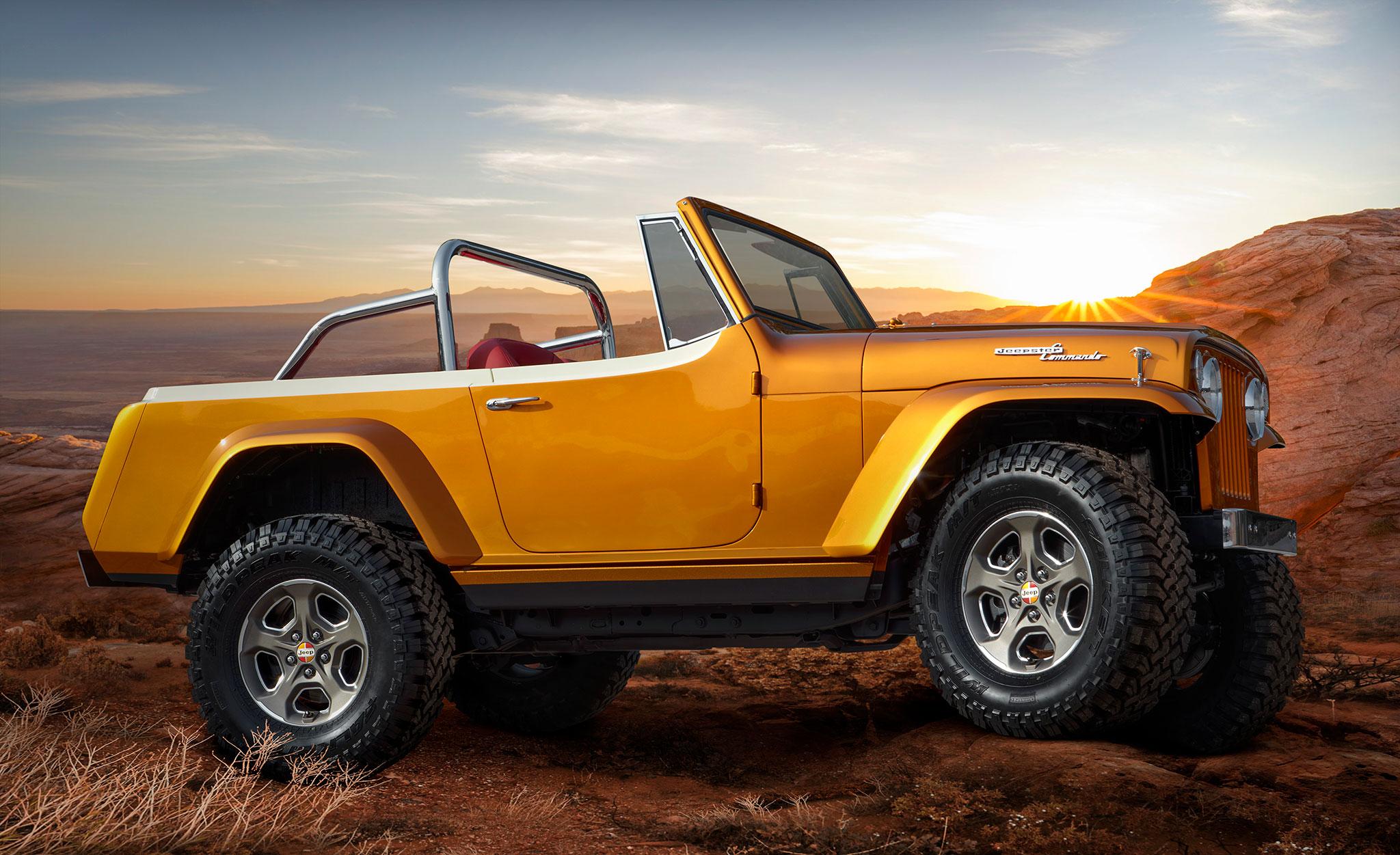 2021 Jeepster Beach Resto Mod Concept latéral côté droit - Concept Cars de Jeep®.