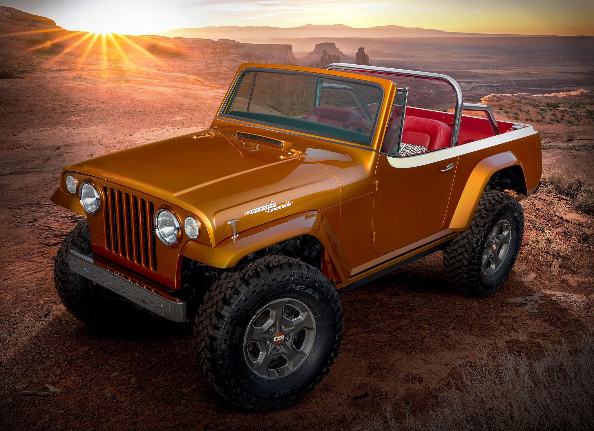 2021 Jeepster Beach Resto Mod Concept trois quarts avant gauche - Concept Cars de Jeep®.