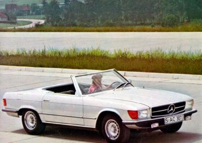 1971-1989 1980 Mercedes-Benz 350 SL R 107 routière et autoroutière plus que sportive.