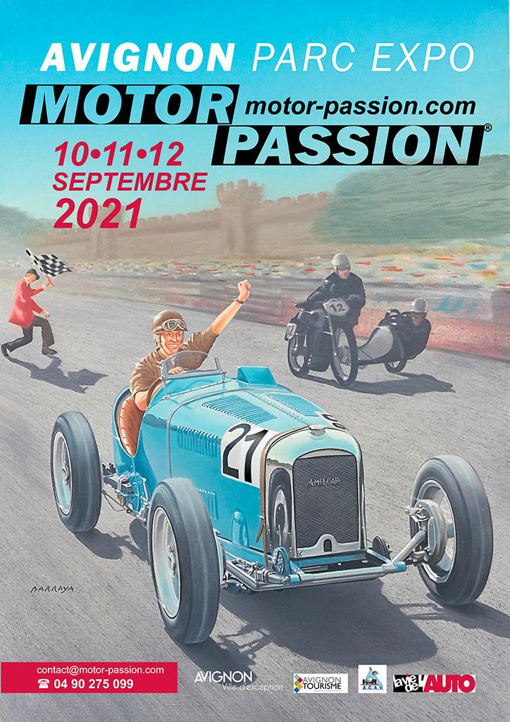 Affiche Motor Passion du 10 au 12 septembre 2021.