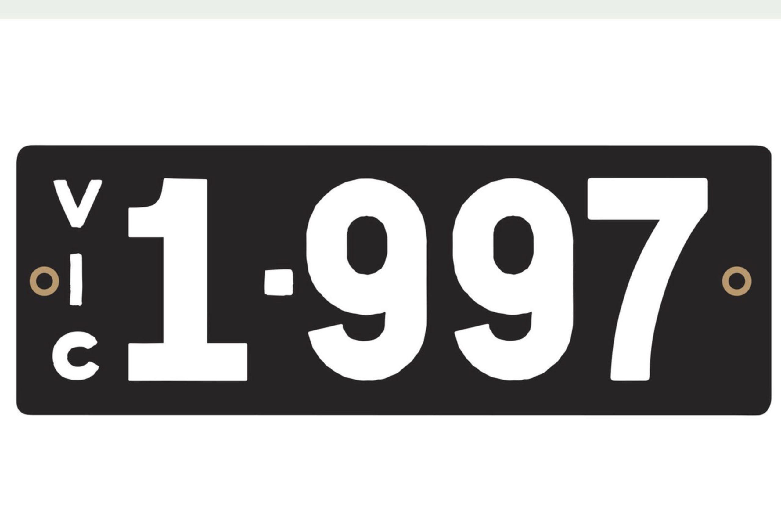 Plaque 1997 pour un anniversaire - VIC et NSW avril 2021.
