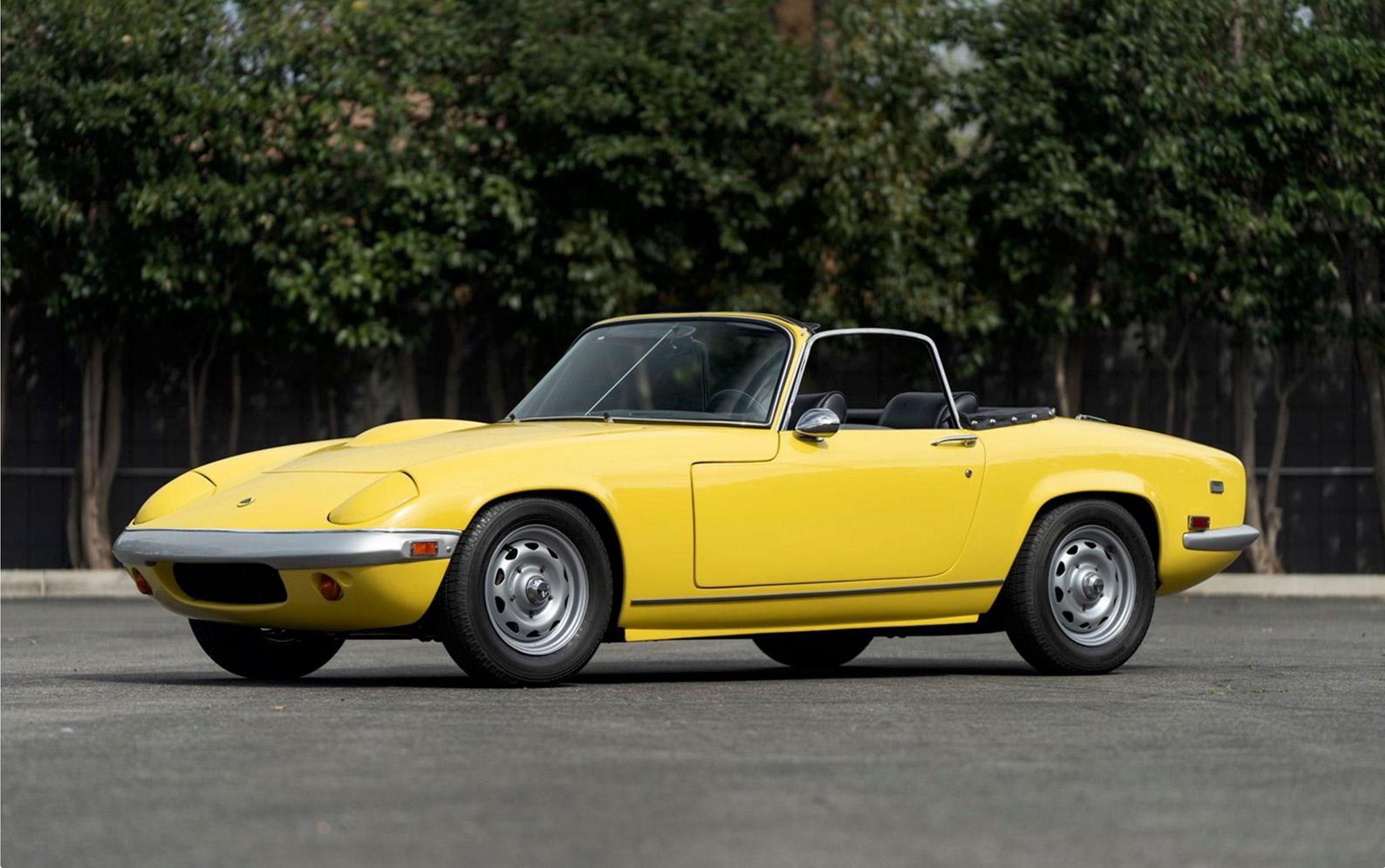 1969 Lotus Elan SE vente Gooding & Company £34,100 frais compris.