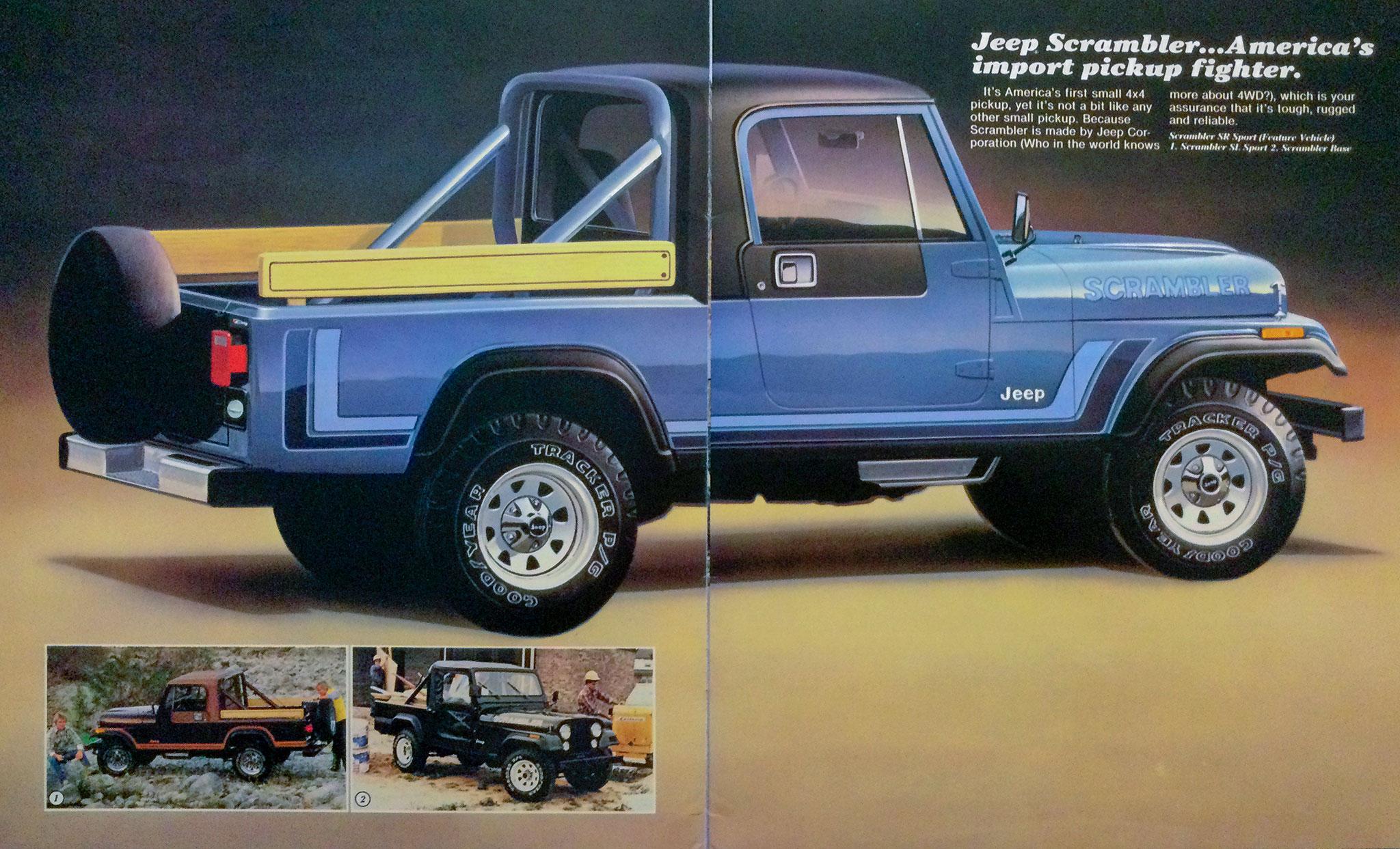 1981 Jeep Scrambler CJ-8 publicité originale.