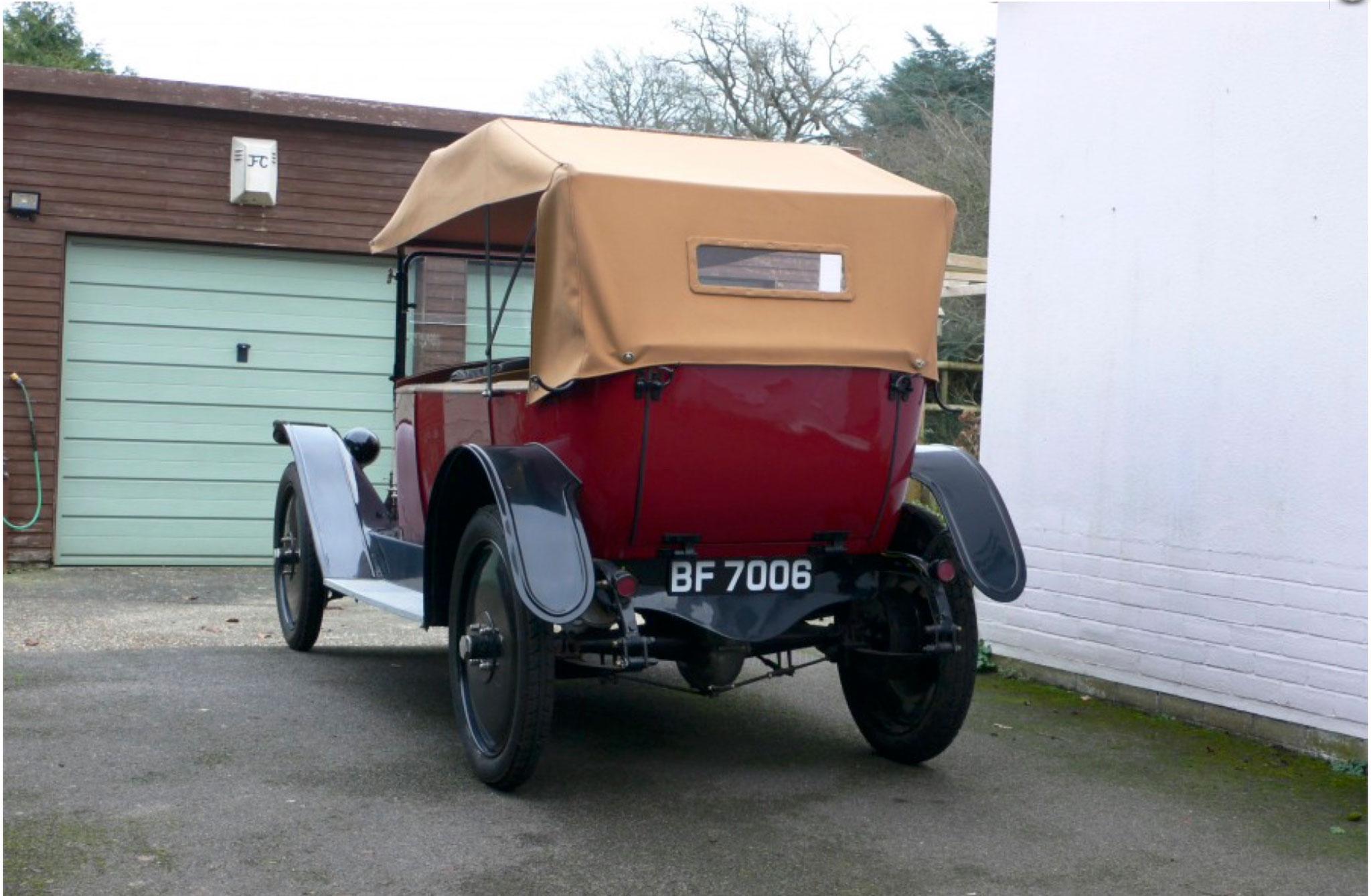 1921 Jouffret Four Seater Tourer nouvelle capote type Double Duck.