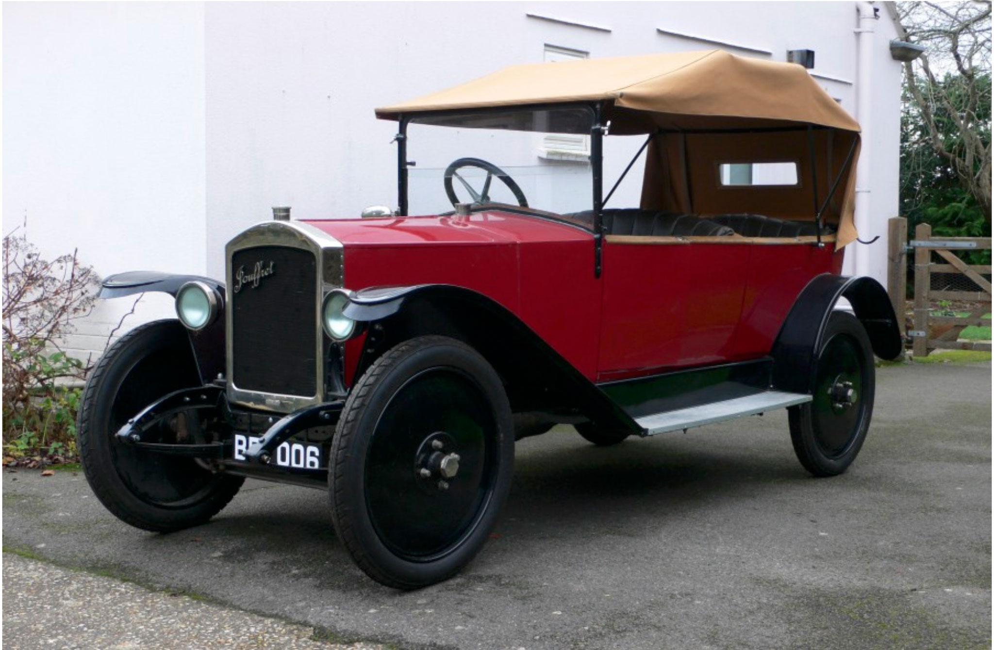 1921 Jouffret Four Seater Tourer seul survivant connu à ce jour.