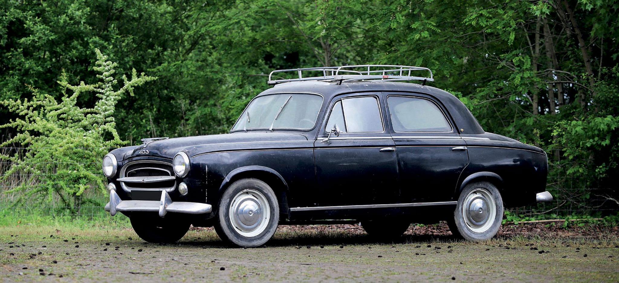 1957 Peugeot 403 Berline Noire €2500 - 4500 - Populaires Françaises.