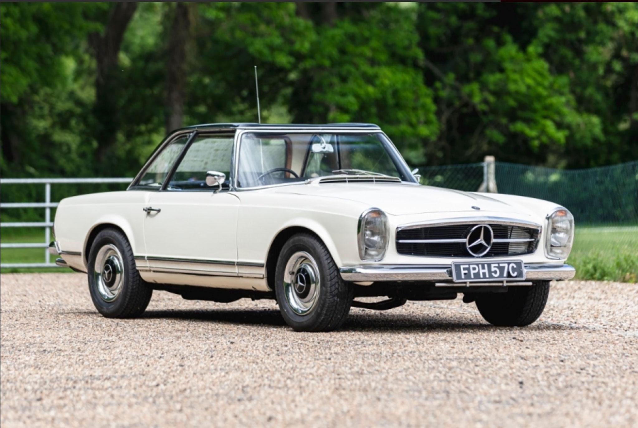 1965 Mercedes-Benz 230SL Ex-Britt Ekland - CCA au London Classic Car Show 2021.