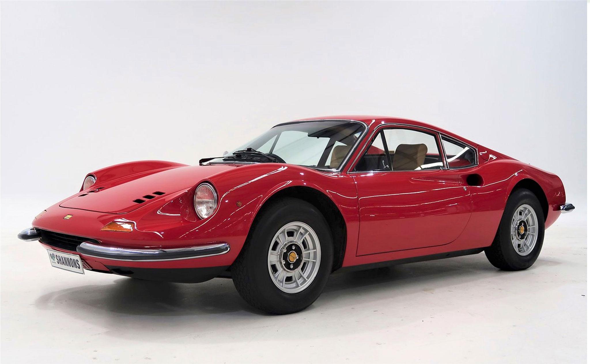 1971 Ferrari Dino 246 GT Coupé restauration minutieuse.