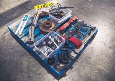 1999 Subaru 22B-STi Type UK vendue avec toutes les pièces originales.