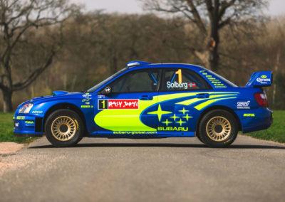 2004 Subaru Impreza S10 WRC décoration conforme à l'origine.