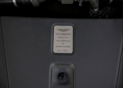 2011 Aston Martin V12 Zagato N° 2 sur 2 exemplaires.