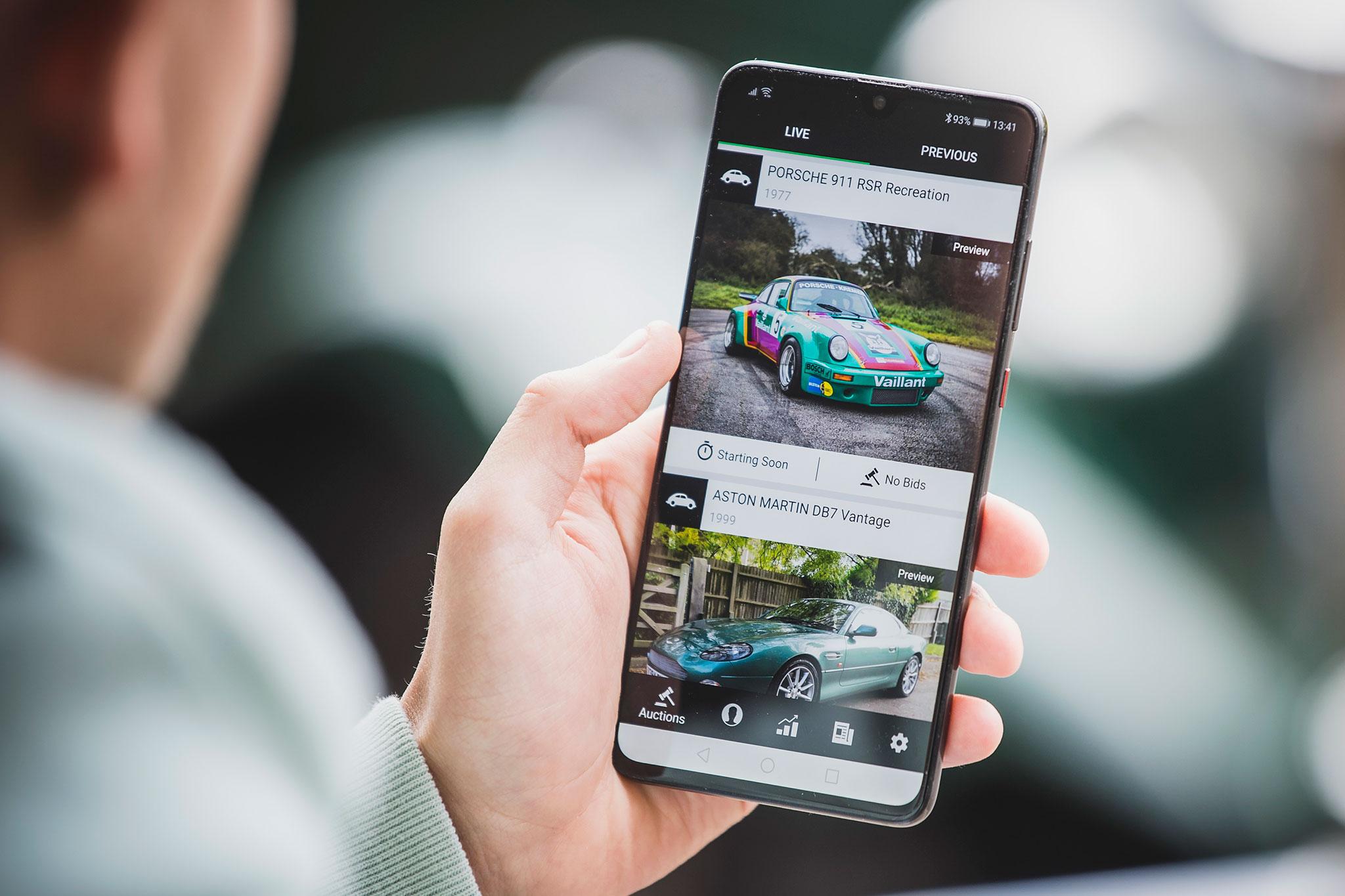 The Market App on smartphone - The Market by Bonhams.